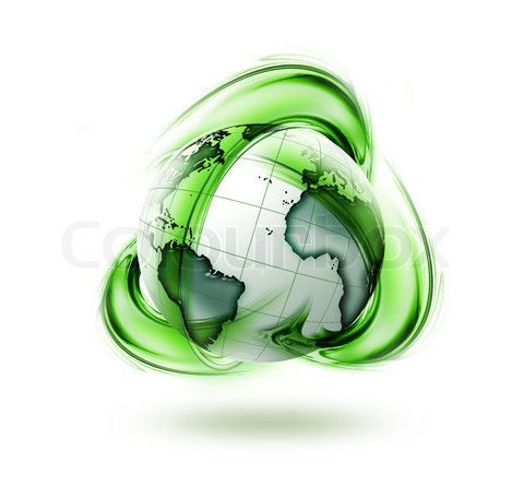 Stock image of 'recycle green earth symbol - ecology concept symbol'