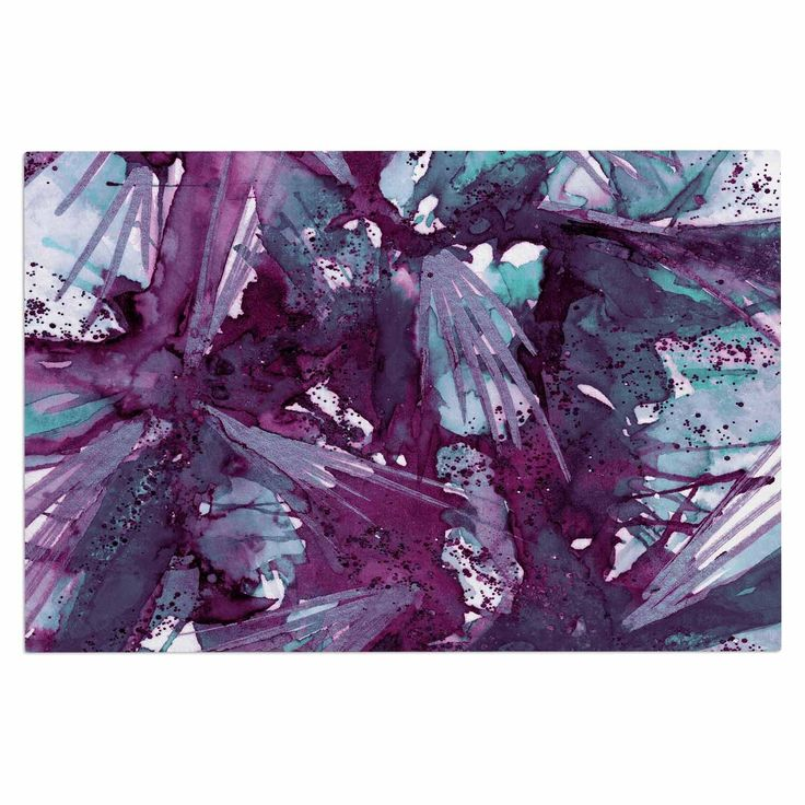 "Ebi Emporium ""Birds of Prey - Aqua Purple"" Blue Lavender Decorative Door Mat"