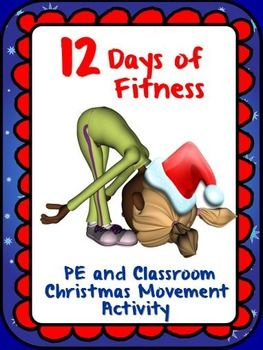 """ON THE FIRST DAY OF FITNESS, MY TRUE LOVE GAVE TO ME....  The following activity """"the 12 Days of Fitness"""" stemmed from an activity that is in my PE Christmas Games and Activities- """"Holly Jolly Fun"""" product. The activity needed some good old """"Christmas spice"""" so I developed some graphic signs that can be placed in a visible area of your gym or classroom for reference as the activity plays out."""