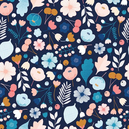 Dashwood Millefleur 100%cotton fabric by Dashwood Studio. 112cm 44''' wide. Our cotton fabrics are priced by the 1/2 metre. For instance if you wish to buy