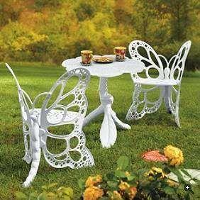 Victorian Alice In Wonderland Butterfly Furniture Set