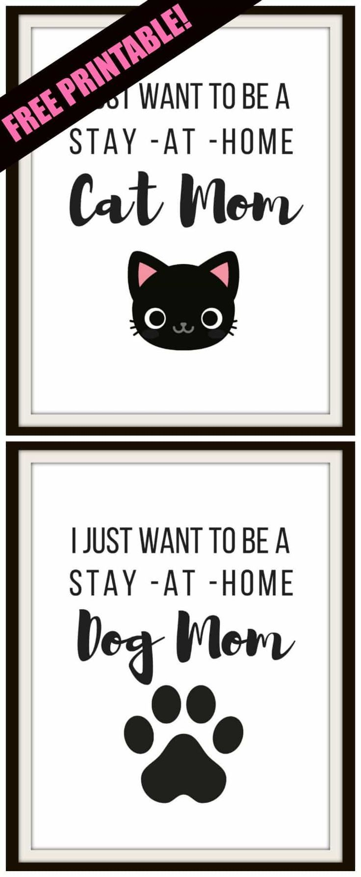 Free printable for cat lovers and dog lovers! – Crafts: Free Printables