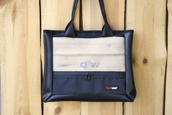 Shopping bag by Feuerwear® made from used fire hoses. One-of-a-kind upcycled product designed in Germany and handmade in Europe. Get it now in our online shop.