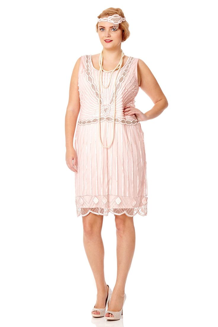 Plus Größe Charleston rosa Vintage 1920er Jahren inspiriert Flapper Kleid große Gatsby Perlen Probeessen Art Deco Brautjungfer Hochzeit Hand Made von Gatsbylady auf Etsy https://www.etsy.com/de/listing/469239165/plus-grosse-charleston-rosa-vintage