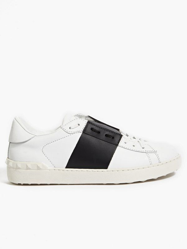 Valentino Men's Colour-Block Stripe Leather Sneakers | oki-ni