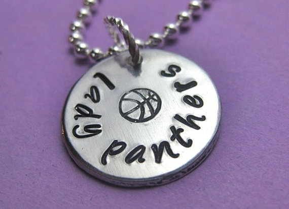Basketball Jewelry - Nothin' but Net  Basketball Personalized Hand by thirtyoneshekels, $12.00