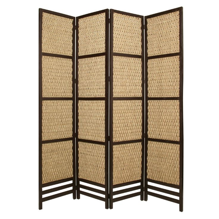 96 X 80 Braided Rope Portable 4 Panel Room Divider