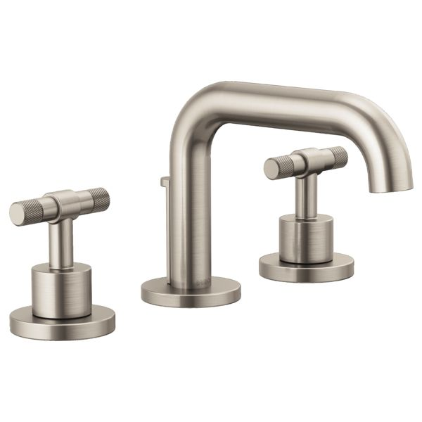 Litze by Brizo: I like this set up, with these handels MDK    Widespread Lavatory Faucet - Less Handles : 65337LF-NKLHP--HL5333-NK : Litze™ : Bath : Brizo