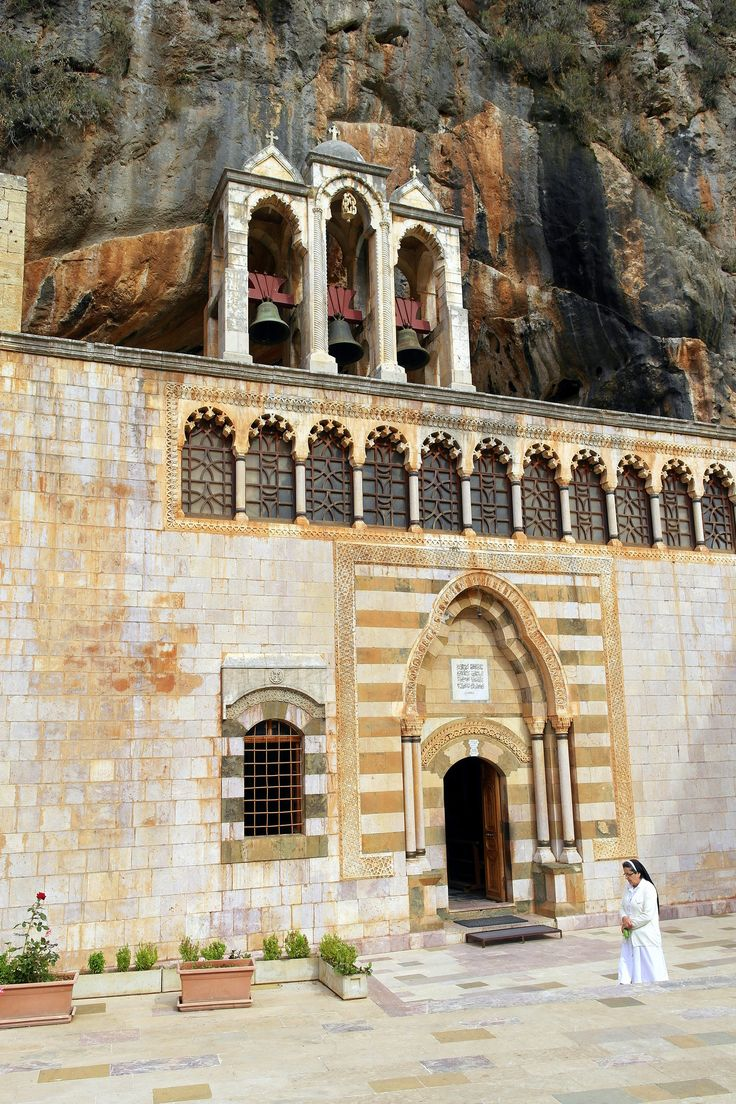 """Monastery of St. Anthony the Great is located in Northern Lebanon. According to Oral Tradition, St. Anthony (251-356) called """"the Great"""", founder of the monastic life, never visited Lebanon. However, his disciples lived in the caves in Qozhaya, and their prayers and way of living filled the valley."""