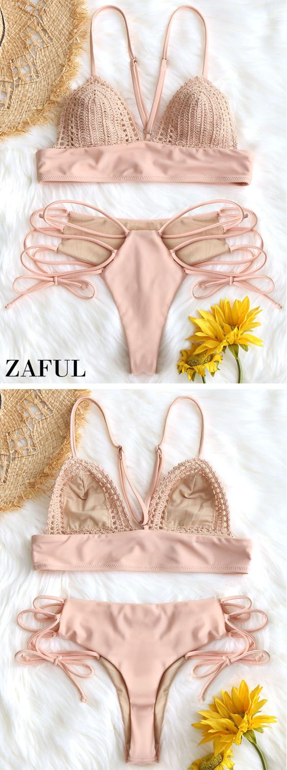 Up to 80% OFF! Bralette Crochet Panel Lace Up Bikini Set. #Zaful #Swimwear #Bikinis zaful,zaful outfits,zaful dresses,spring outfits,summer dresses,easter,super bowl,st patrick's day,cute,casual,fashion,style,bathing suit,swimsuits,one pieces,swimwear,bikini set,bikini,one piece swimwear,beach outfit,swimwear cover ups,high waisted swimsuit,tankini,high cut one piece swimsuit,high waisted swimsuit,swimwear modest,swimsuit modest,cover ups @zaful Extra 10% OFF Code:ZF2017