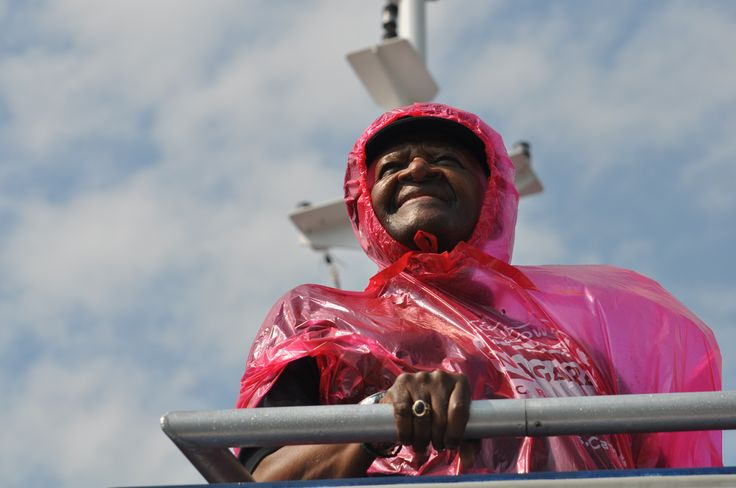 Archbishop Desmond Tutu visits Hornblower Niagara Cruises, in Niagara Falls, Canada