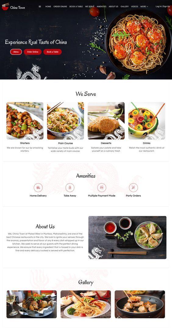 Best Free Chinese Restaurant Website Templates In 2020 Restaurant Website Design Restaurant Website Templates Restaurant Website