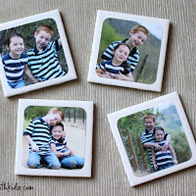 Great photo transfer lesson   DIY Photo Coasters