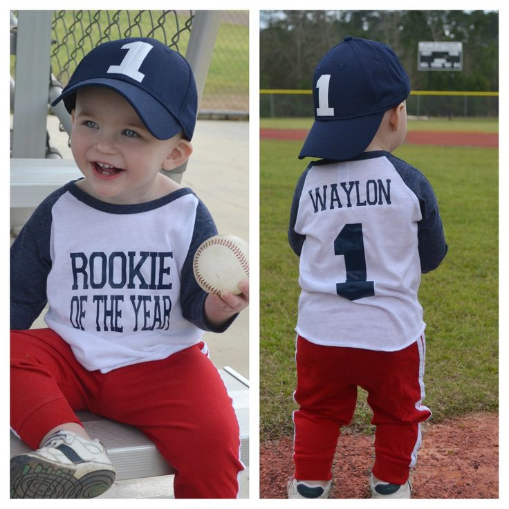 Let's play ball! This adorable raglan is perfect for your little rookie who's turning one! Great for birthdays, ball games & sports fan everywhere! Please Note that 12-24M raglans are ONLY available i