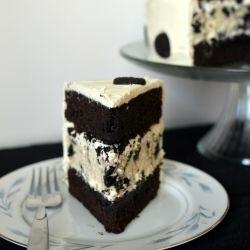 Oreo Cheesecake Cake - tastes even better than it looks.