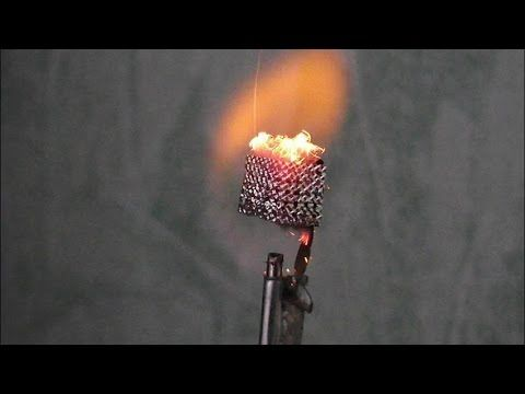 The catalytic combustion of hydrogen over platinum (Döbereiner's lamp) - YouTube