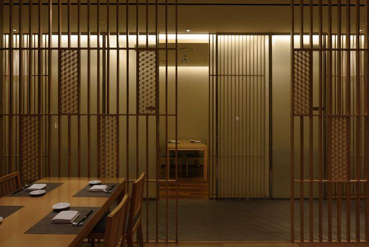 建具 店舗 shop レストラン 組子欄間 木製建具