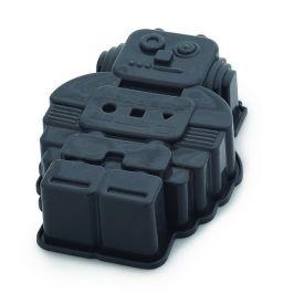 Sliconen robot bakvorm, leuk voor kinderen, en natuurlijk de ouders ;) www.kleinechef.com