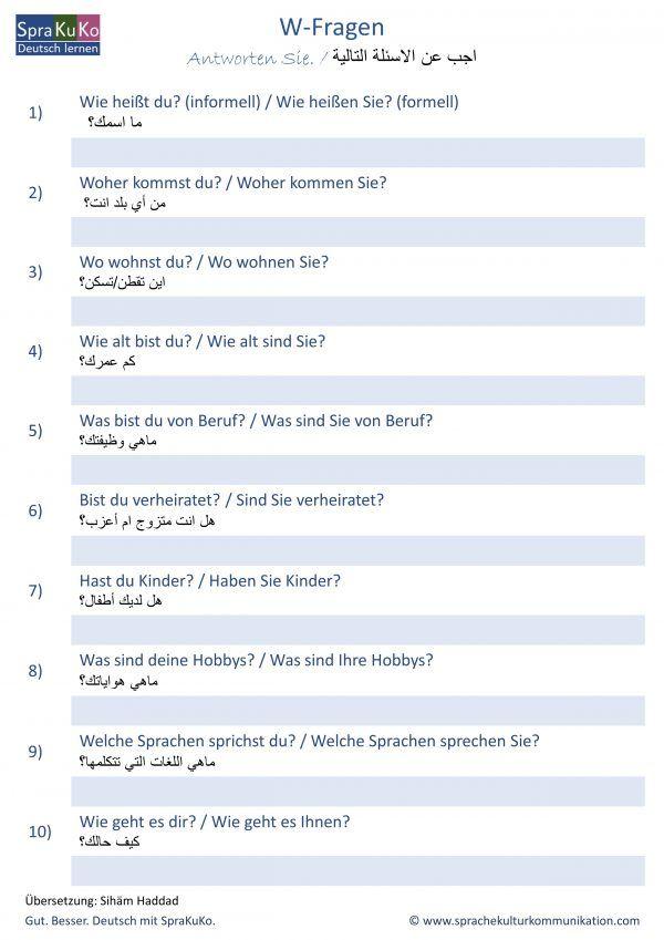 Gruppen fragen zum kennenlernen
