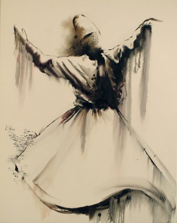 Muslim mystic/Sufi. Hossein Irandoust. Whirling dervish.