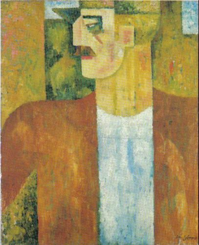 Amadeo de Souza-Cardoso (Portuguese: 1887 – 1918) | Portrait of Man 1913
