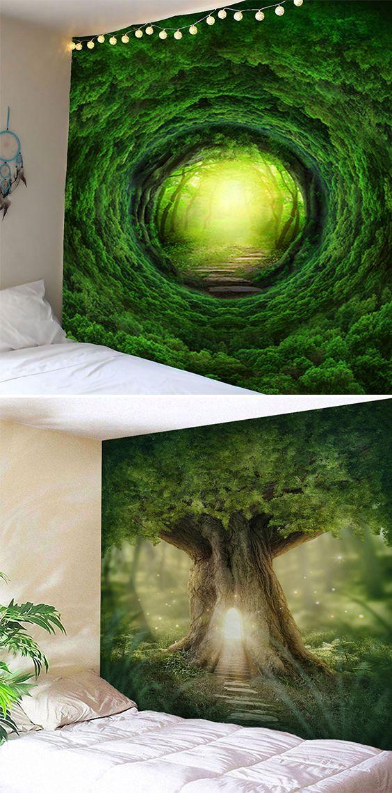 Nature Tree Hole Wall Art Tapestry