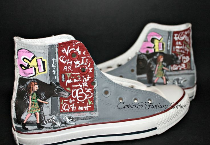 Red Hot Chili Peppers - The Getaway shoes di ComicsFantasyShoes su Etsy