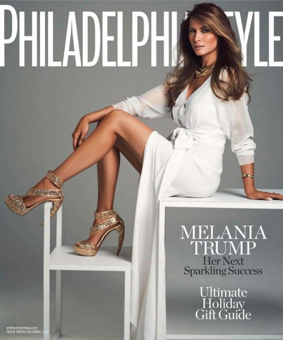 Melanie Knauss Trump on cover of Philadelphia Style magazine in December, 2011