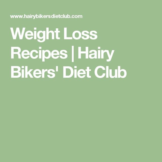 Weight Loss Recipes | Hairy Bikers' Diet Club