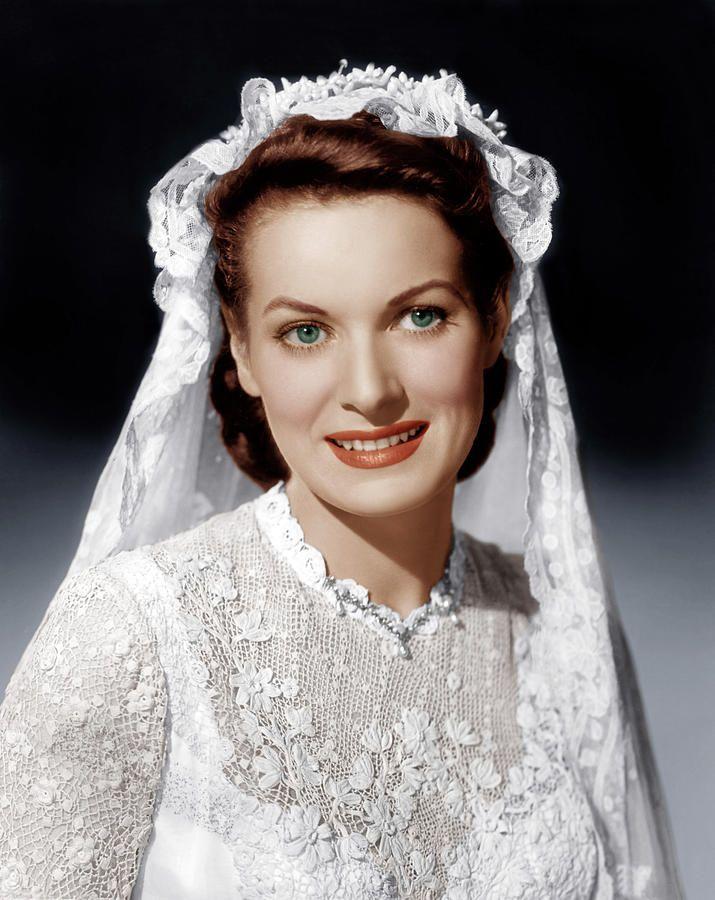 "Maureen O'Hara as a bride in ""The Quiet Man"" ~ 1952"