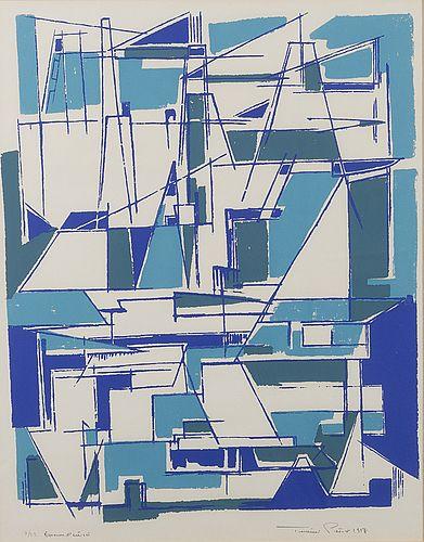TUULIKKI PIETILÄ, serigrafi, signerad, numrerad Epreuve d'artiste 7/22 och daterad 1958.