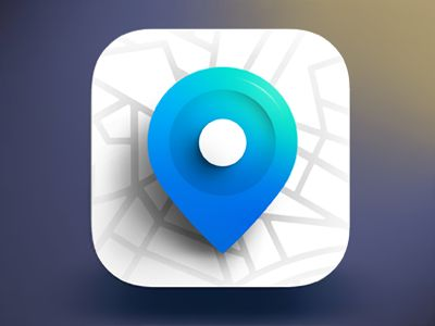 GPS Ios Icon Design