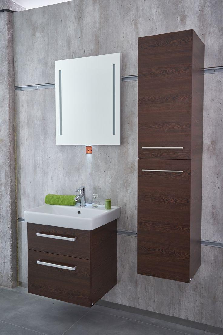 Koupelnový nábytek wenge od českého výrobce Dřevojas. Inspirace do koupelny pro každého milovníka designu.