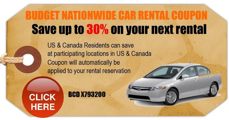30% off Budget rental (for van to Disney)
