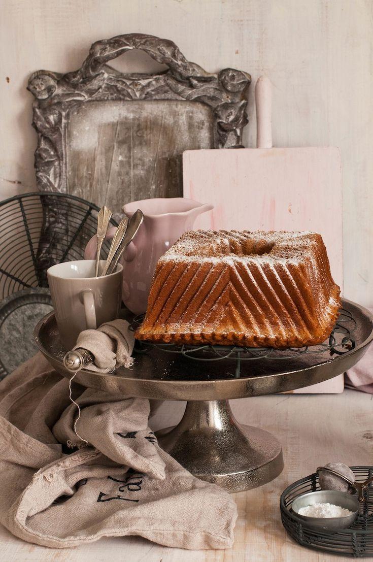 bundt cake de the chai en molde cuadrado