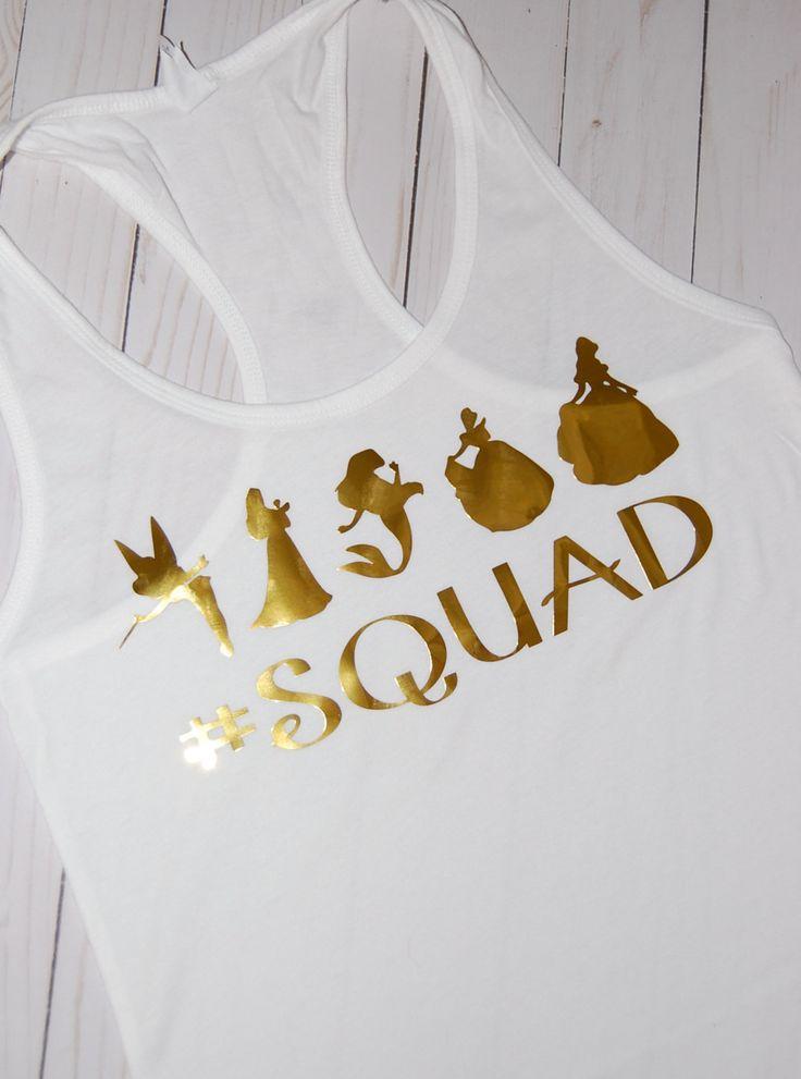 Women's Disney Princess Shirt/ #Squad Shirt/ Womens Disney Shirt/ Disney Shirt/ Disney Tank/Princess Tank/ Squad Goals by LittlestCreationsCo on Etsy