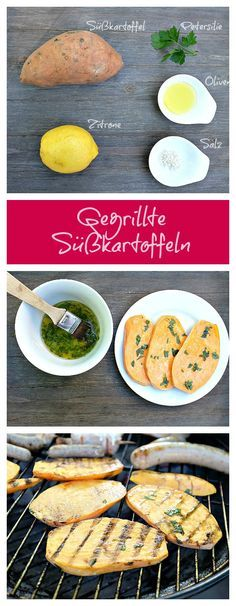 Gegrillte Süßkartoffeln mit einer Olivenöl-Zitronen-Marinade - Schnelle und leckere Rezepte, die glücklich machen - Mein kleiner Foodblog