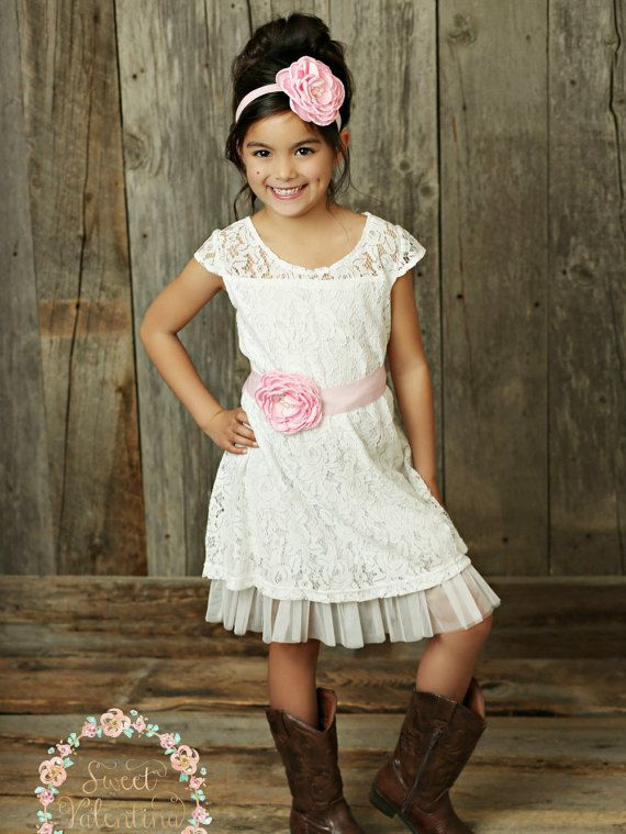 Flower girl dress rustic flower girl dress by SweetValentina