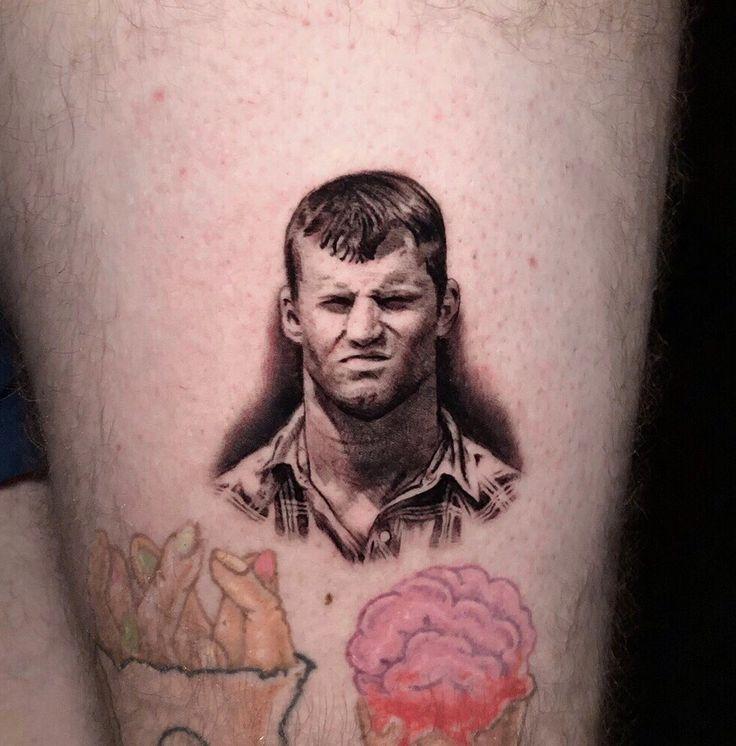 Letterkenny micro portrait tattoo by pony lawson in 2020