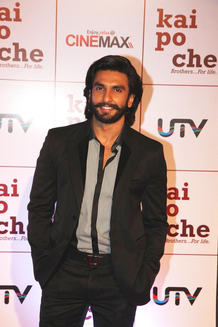 Ranveer Singh at KAI Po Che Movie Premiere.