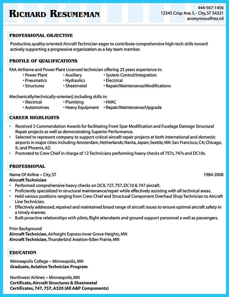 Cool Convincing Design And Layout For Aircraft Mechanic Resume Http Snefci Org Convincing Design Layout Aircr Resume Skills Resume Examples Education Resume