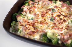 Enkel broccoligratäng med bacon