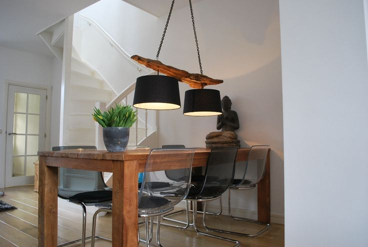 Hanglamp teakhout/drijfhout/hout