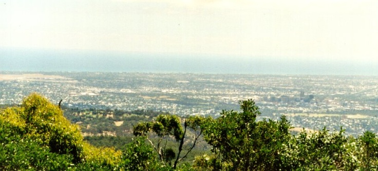 Adelaide, Australia - View from Mt. Lofty