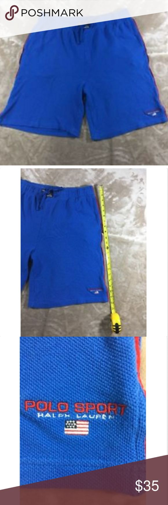 Vintage DeadStock Polo Sport Ralph Lauren shorts Vintage DeadStock Polo Sport Ralph Lauren Men`s Size XL Blue Beach Shorts - G Polo by Ralph Lauren Shorts Flat Front