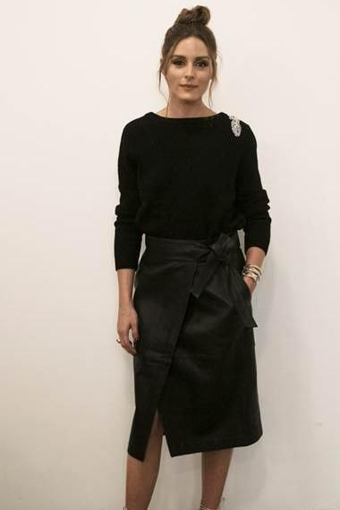 Olivia Palermo wearing Ba&sh Opera Sweater and Ba&sh Magic Skirt