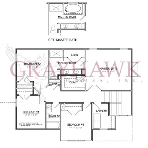Davenport 2nd floor plan grayhawk homes of iowa new for Iowa home builders floor plans