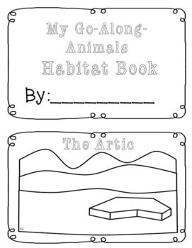 My Go Along Animals Habitat Book Bfiar Add Ons Activities
