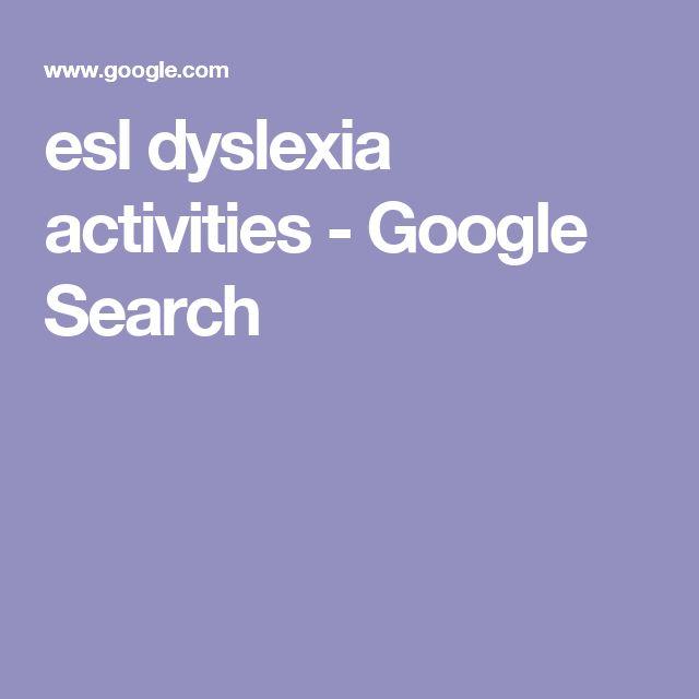 esl dyslexia activities - Google Search