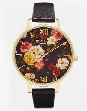 Olivia Burton – Uhr mit Winterblumendesign und großem Zifferblatt